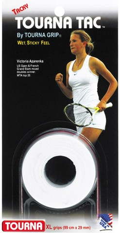Owijki tenisowe Tourna Tac White - 3pak