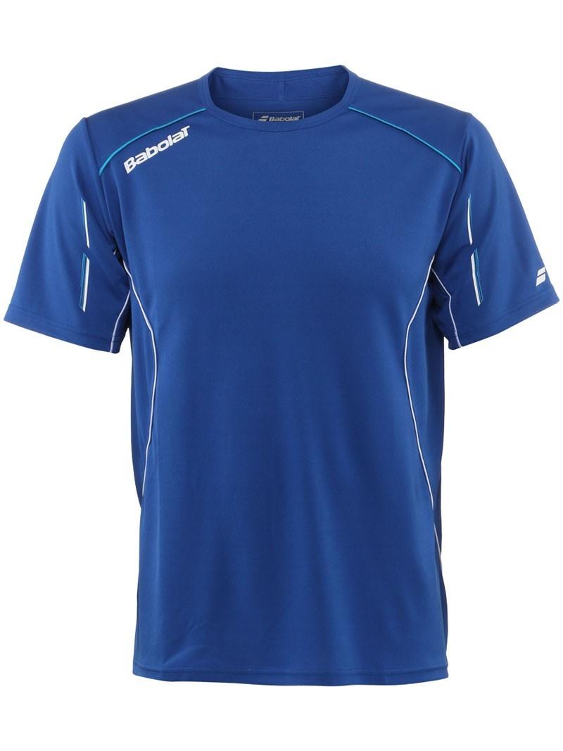 Koszulka tenisowa chłopięca Babolat Match Core Blue - Wyprzedaż!