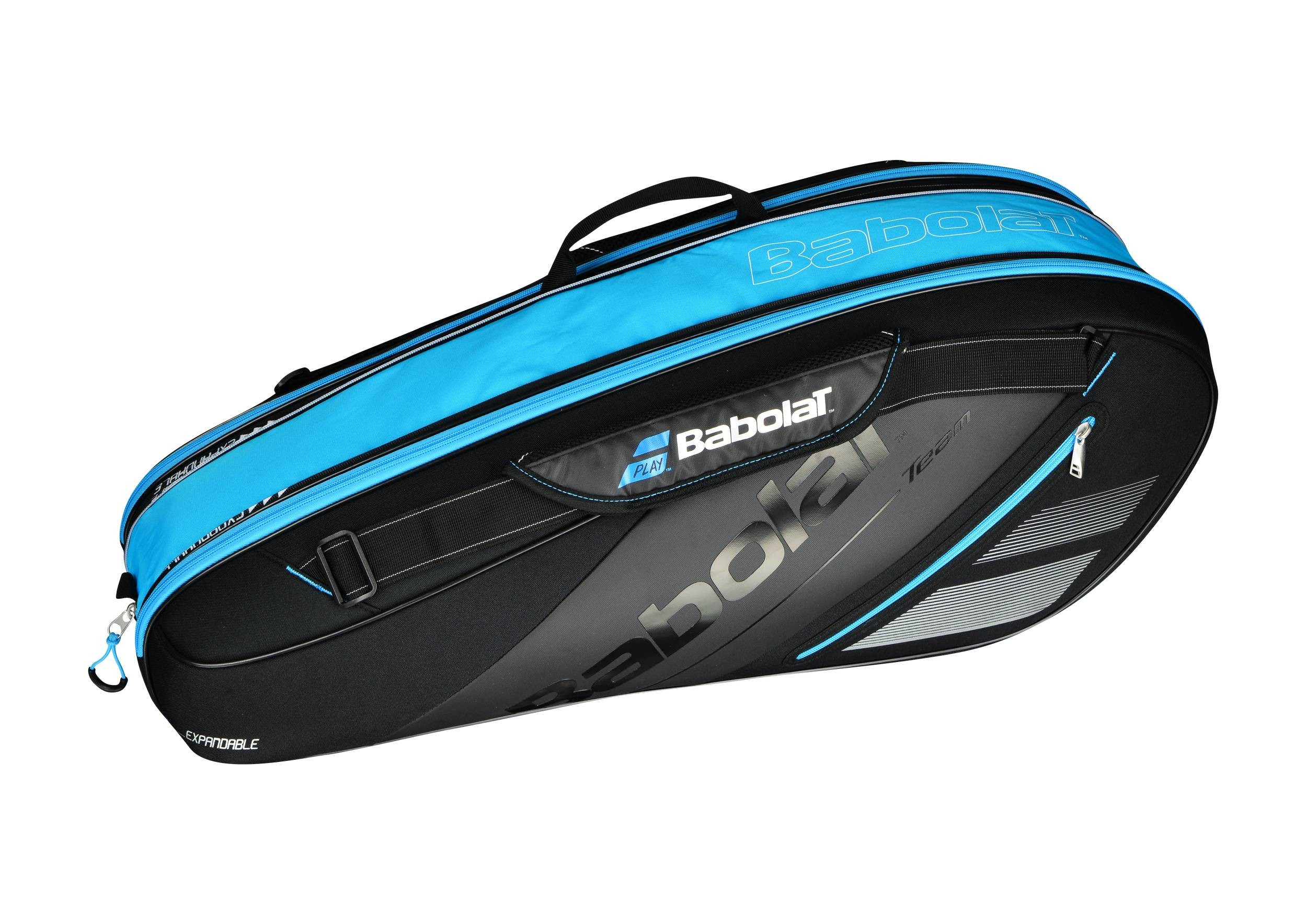 Torba tenisowa Babolat Team x6 Expandable Black/Blue 2018