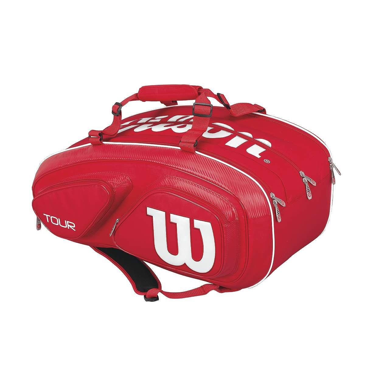 Torba tenisowa Wilson Tour V Red 15 Pack Bag