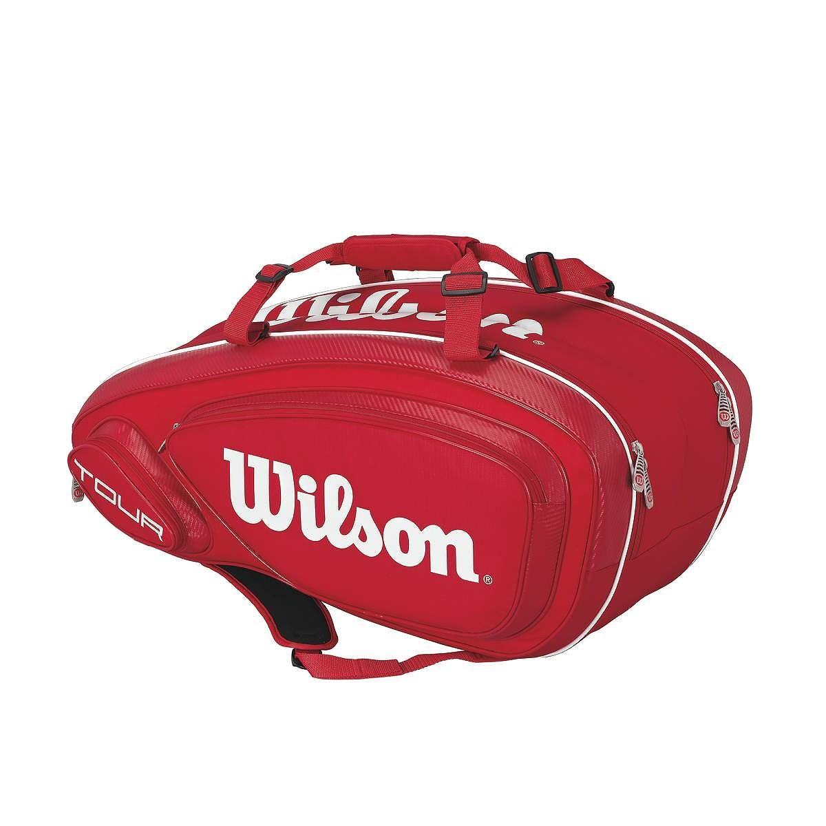 Torba tenisowa Wilson Tour V Red 9 Pack Bag