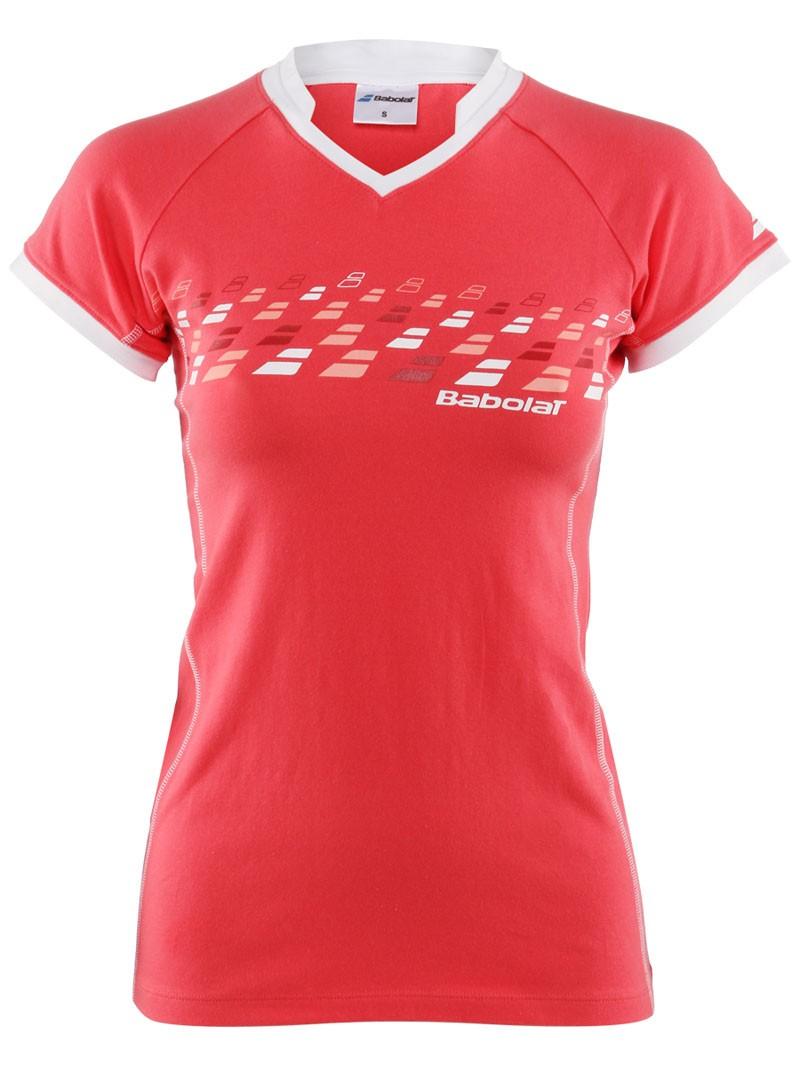 Koszulka tenisowa damska Babolat T-shirt Essential Koral