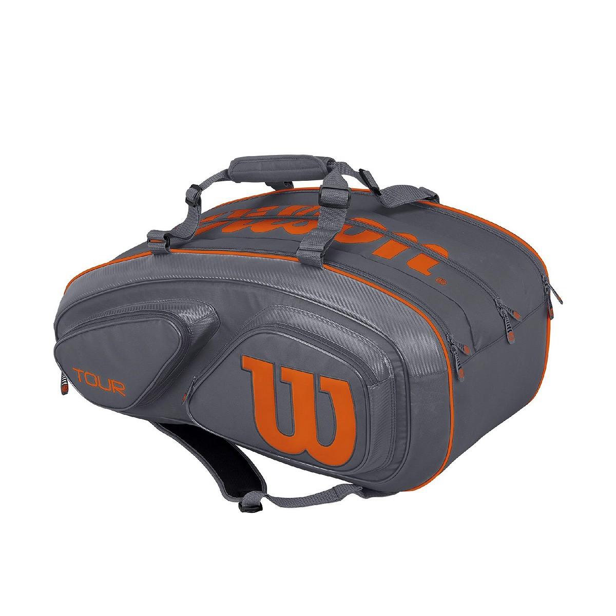 Torba tenisowa Wilson Tour V Grey 15 Pack Bag