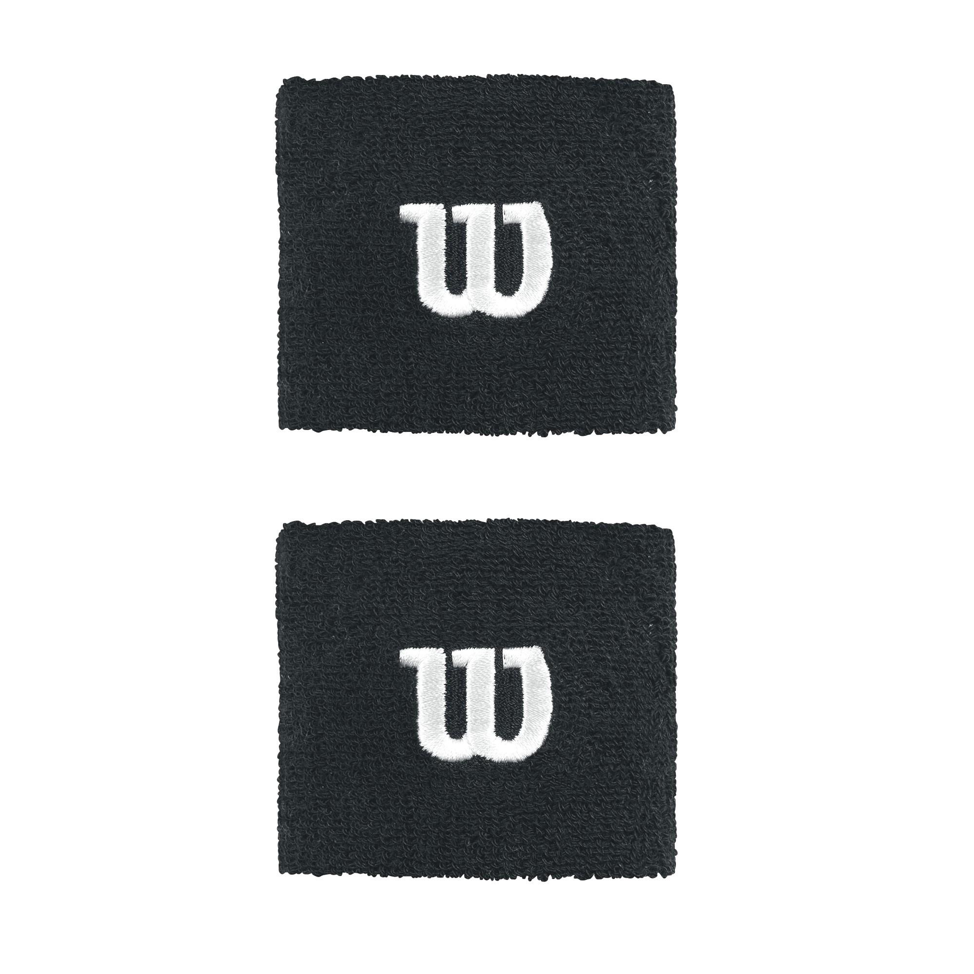 Frotki tenisowe Wilson Wristband czarne