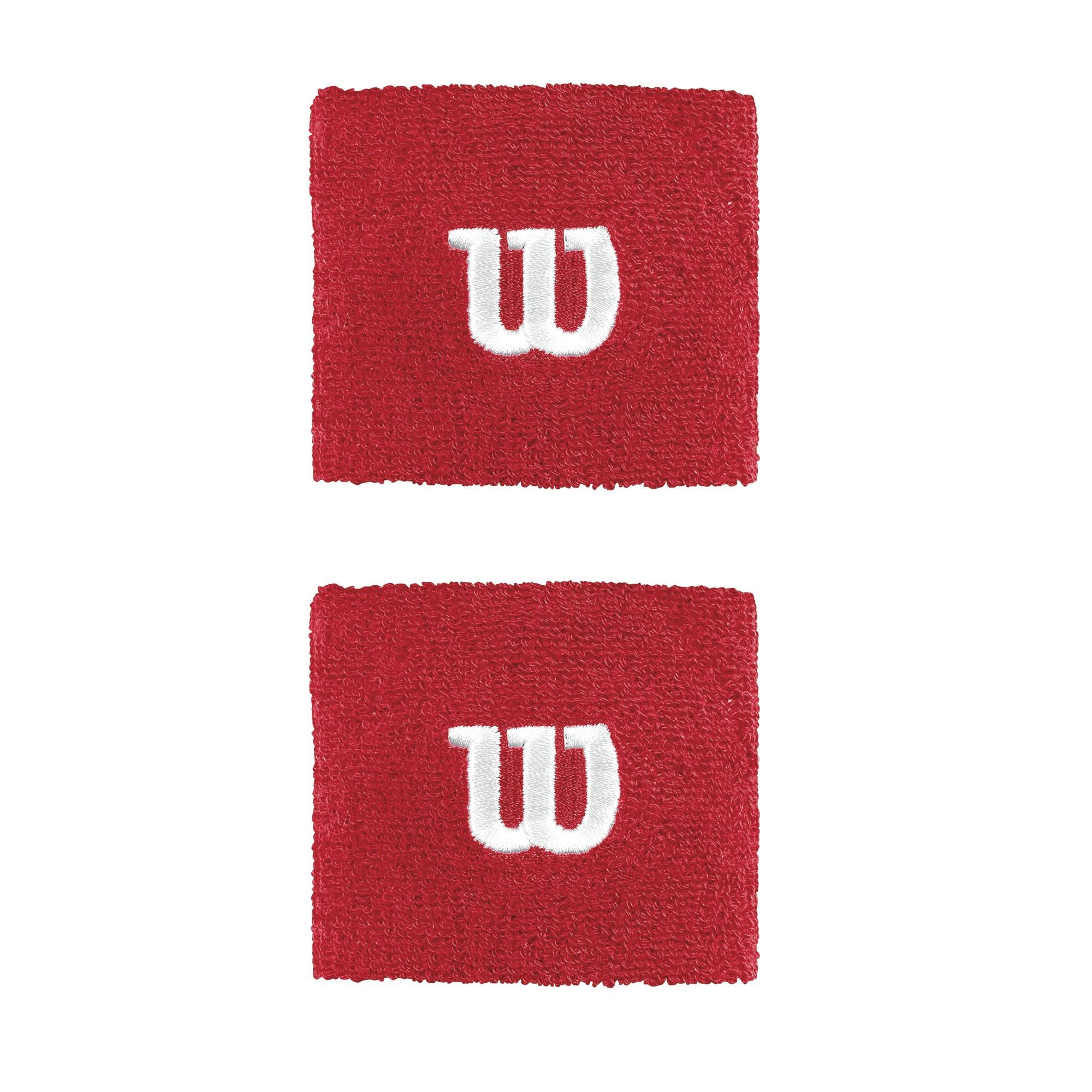 Frotki tenisowe Wilson Wristband czerwone