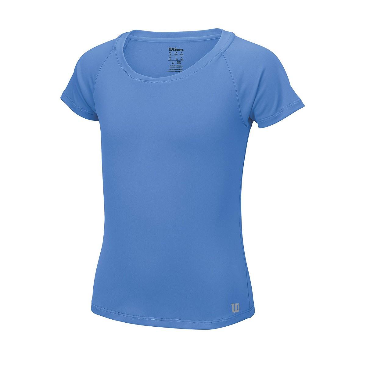 Koszulka tenisowa dziewczęca Wilson Core Cap Sleeve - wyprzedaż!