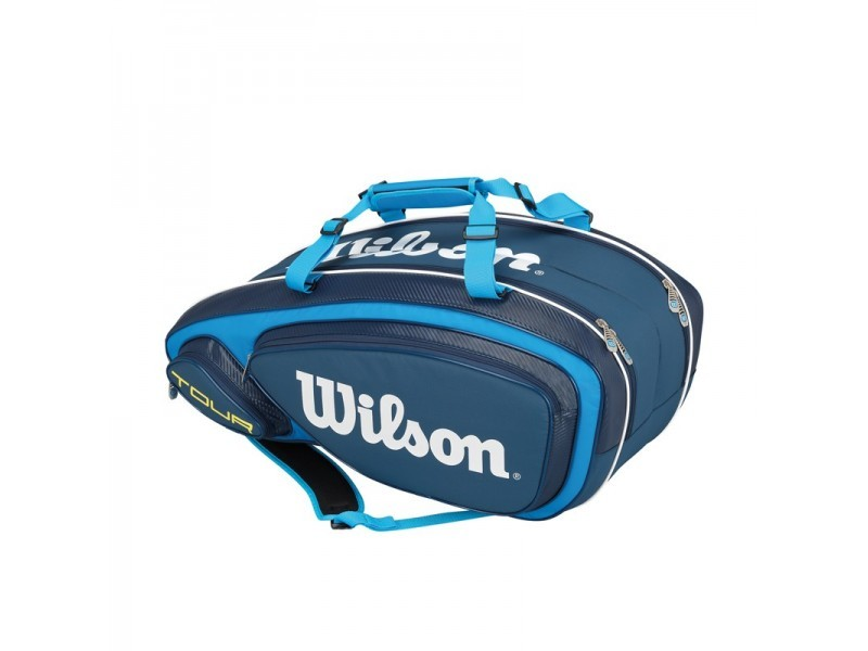 Torba tenisowa Wilson Tour V Blue 9 Pack Bag