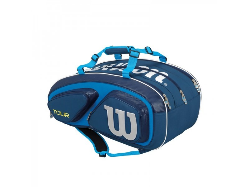 Torba tenisowa Wilson Tour V Blue 15 Pack Bag